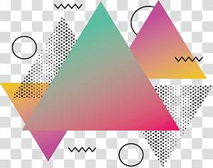 abstração de triângulo, triângulo abstrato rosa, triângulos teal e vermelho PNG clipart