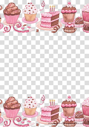 bolo rosa e marrom e bolos de xícara, Cupcake bolo de aniversário de confeiteiro, delicioso bolo png