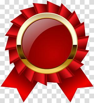 Medalha de prêmio de fita, prêmio Roseta fita Clipar, ilustração de fita vermelha png