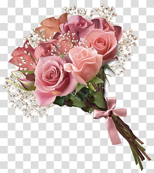 Buquê de flores Rose, Pink Rose Bouquet, buquê de flores cor de rosa PNG clipart