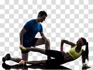 homem e mulher, realizando, exercitar-se, ilustração, exercício físico aptidão física bola exercício, treinador pessoal, BOSU, movimento fitness png