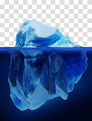 ilustração de iceberg, mar de iceberg, iceberg azul PNG clipart