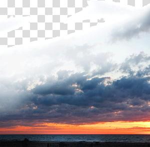 nuvens cumulonimbus durante a hora de ouro, pôr do sol céu vermelho na manhã nuvem, nuvens do sol PNG clipart