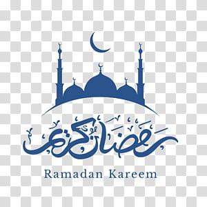 Eid Mubarak Ramadan Eid al-Fitr Alcorão, decoração da lua Alcorão azul, logotipo Ramadan Kareem PNG clipart