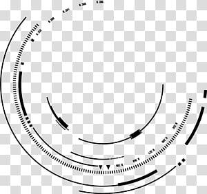 Linhas de tinta criativa de material psd de tinta, linhas de sentido tecnológico de redemoinho de círculo geométrico PNG clipart