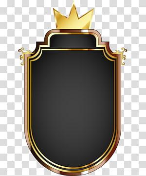 Ícone euclidiano do Clash Royale, logotipo Royal Gold, ouro e preto com coroa PNG clipart
