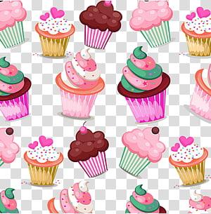 Cupcakes fundo, Cupcake aniversário bolo Muffin Bakery Cream, material de bolo de Marshmallow png