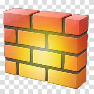 ilustração de tijolos laranja e amarelo, ícone do protocolo de configuração de host dinâmico do firewall, tijolo PNG clipart