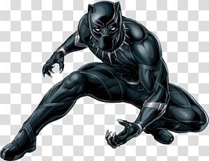 Ilustração de Pantera Negra, Pantera Negra YouTube Wakanda Marvel Cinematic Universe Superhero, pantera negra png
