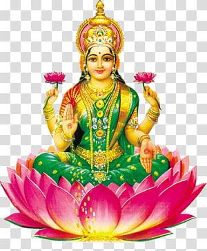 ilustração de lakshmi deusa, ganesha shiva krishna hanuman lakshmi, vishnu PNG clipart