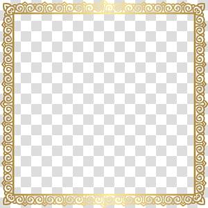 modelo quadrado de ouro, quadro de texto de área quadrada padrão, quadro de borda ouro PNG clipart