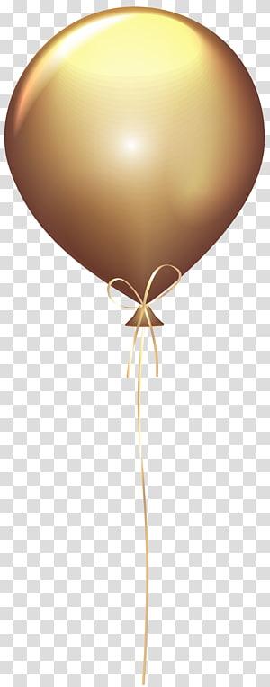 balão bege, balão de ouro, balão de ouro PNG clipart