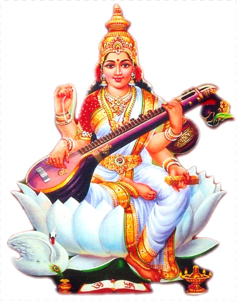 ilustração de deus hindu, shiva saraswati hinduísmo deusa devi, deusa PNG clipart