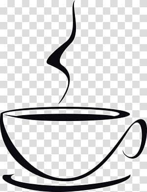 Xícara de café Espresso Cappuccino Latte, mapa de bebida de café de mão desenhada png