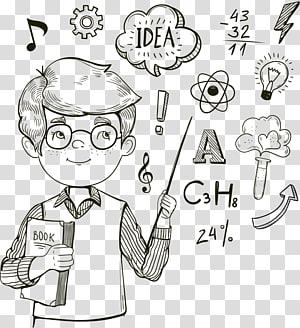Ilustração da ideia, Desenho Euclidiano de Matemática, formação de estudantes PNG clipart