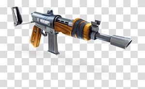 metralhadora marrom e cinza, Fortnite Battle Royale, arma de fogo PlayStation 4, espingarda de assalto png