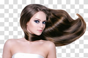 mulher de cabelos castanhos, salão de beleza Salão de beleza Shampoo para alisamento de cabelos, modelo de cabelo PNG clipart