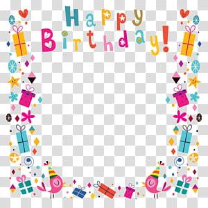 Cartão de aniversário, sombreamento de fundo de cartaz de feliz aniversário, ilustração de quadro de feliz aniversário png