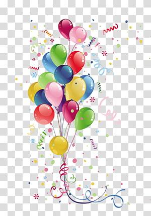 ilustração de balões, aniversário de balão de festa, balões coloridos png