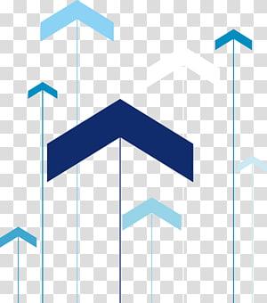 Seta ilustração de ciência e tecnologia, azul e azul-petróleo PNG clipart