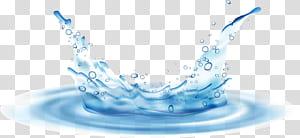 Respingos de gota de água, ondulações de água, respingos de água com ondulação png
