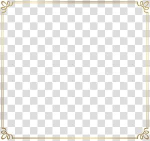 Modelo de arame, borda decorativa, moldura quadrada marrom PNG clipart