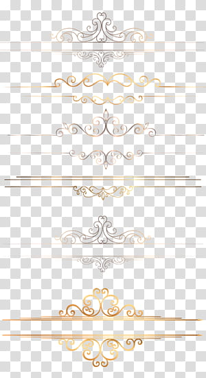 Ícone, borda de ouro, floral cinza e bege PNG clipart