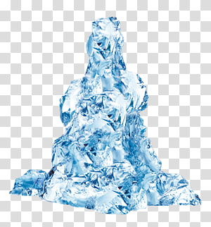 bloco de gelo, gelo azul, elementos decorativos de icebergs azuis PNG clipart