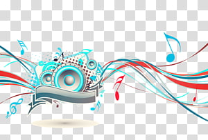 ilustração da música, nota musical, linhas coloridas da música PNG clipart
