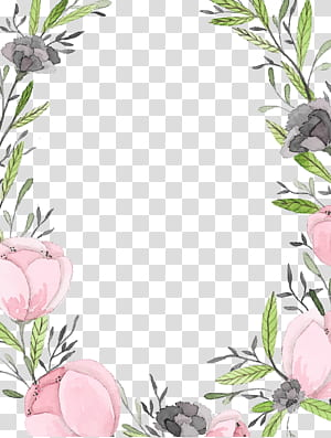 Carta de papel de convite de casamento, moldura de renda pintada à mão, moldura floral rosa e cinza png