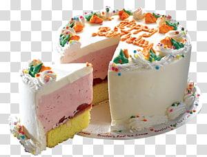 um fatiado branco feliz aniversário bolo ilustração, bolo de aniversário, bolo em png