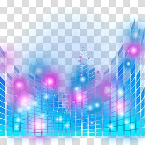 Iluminação de palco, efeito de luz dinâmico de palco, música azul e rosa PNG clipart
