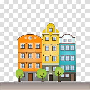edifício, a arquitetura da cidade edifício cartoon ilustração, construção de estradas png