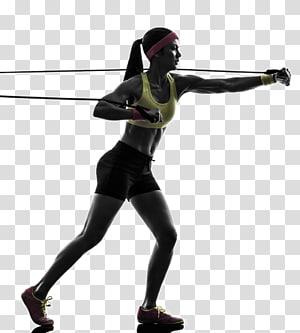 mulher exercitando usando faixas de resistência, banda de resistência Exercício físico Aptidão física Treinamento de força Treinamento com pesos, Movimento de condicionamento físico png