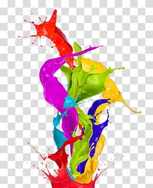 Pintar arte abstrata de cor, cor espirrada pintado, pintura abstrata PNG clipart