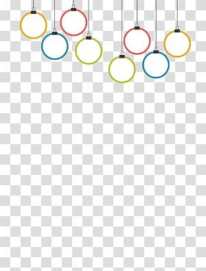 ilustração de lâmpadas pendentes brancas e multicoloridas, papel gráfico design padrão de marca, lustres folhetos de aprendizagem coloridos PNG clipart