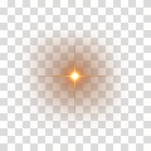 Luz Eficácia luminosa Halo Lens flare, reflexo de lente HD, luz amarela png