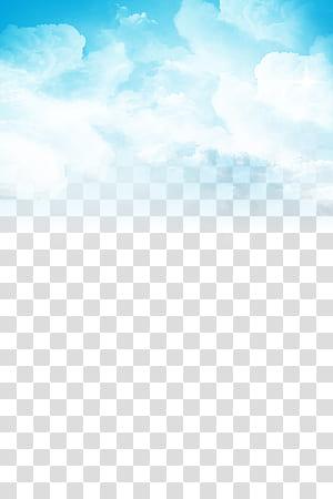 Nuvem céu azul, céu azul e nuvens brancas, nuvens de pintura PNG clipart