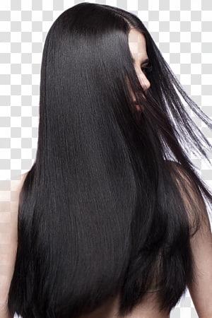 mulher sacudindo o cabelo, Alisamento de cabelo Integrações artificiais de cabelo Condicionador de cabelos Cuidado capilar, Um cabelo preto PNG clipart