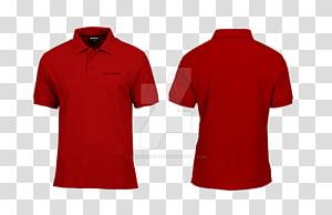 ilustração de colagem de camisa polo vermelha, camisa de mangas compridas t-shirt polo de mangas compridas t-shirt, camisa PNG clipart