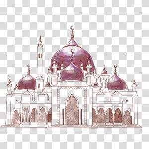 ilustração da mesquita marrom, igrejas islâmicas PNG clipart