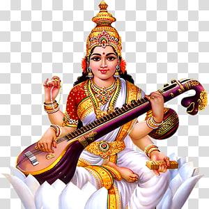 Ilustração de Saraswati, Shiva Krishna Saraswati Durga Basant Panchami, hindu PNG clipart