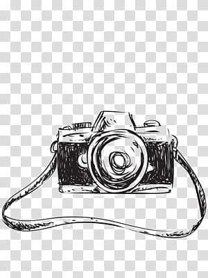 Desenhando Esboço de câmera, Esboço de câmera criativo, ícone de esboço de câmera PNG clipart
