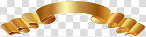 ilustração de fita marrom, formatos de arquivo Compressão sem perdas, Bannner Gold PNG clipart