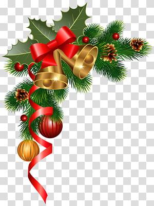 Decoração de Natal Enfeite de Natal Árvore de Natal, Decoração de Canto de Natal, guirlanda verde PNG clipart