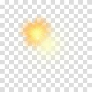 raio amarelo do sol, eficácia luminosa amarela do carro da iluminação, efeito da luz amarelo do carro png