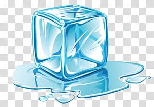 ilustração de cubo de gelo, cubo de gelo derretendo, cubos de gelo azul dos desenhos animados PNG clipart