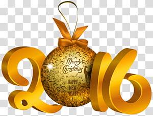 marrom 2016 Feliz Natal decoração, ano novo enfeite de Natal decoração de Natal, amarelo 2016 decoração png