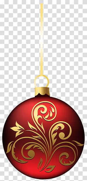 Enfeite de Natal Decoração de Natal, Enfeite de Bola de Natal Grande BlueRed, luminária vermelha e marrom png