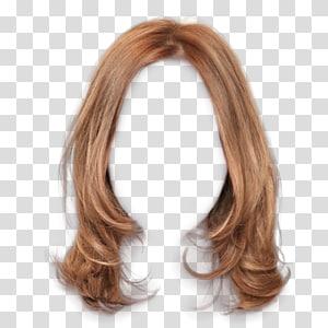 peruca marrom, cabelo castanho cabelo longo penteado, grampos de cabelo marrom para puxar grátis PNG clipart